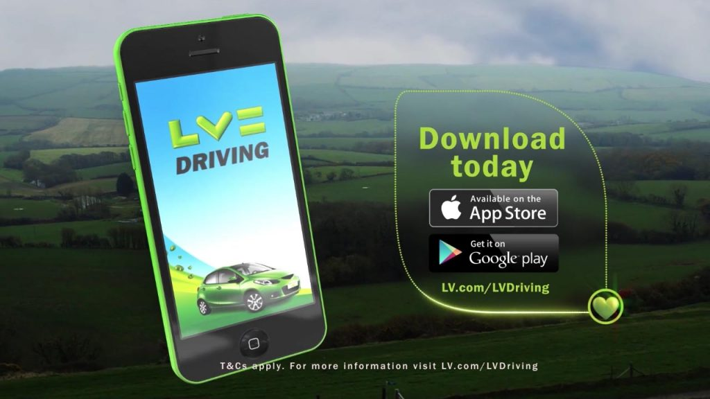 LV= Driving app video